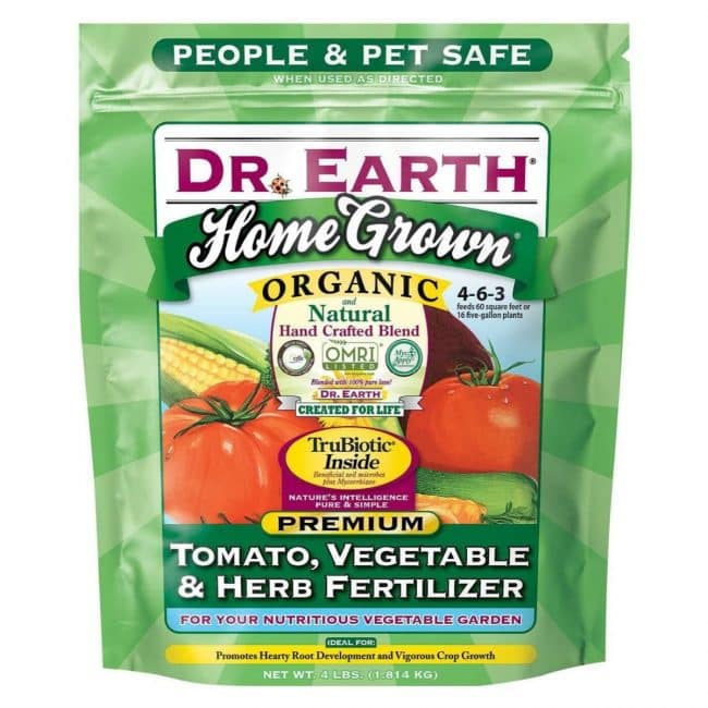 La mejor opción de fertilizante para tomates: Dr. Earth Home Grown Tomato Tomato Fertilizer