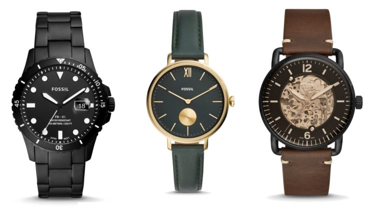Fossil FB-01 Silicona negra FS5666OP