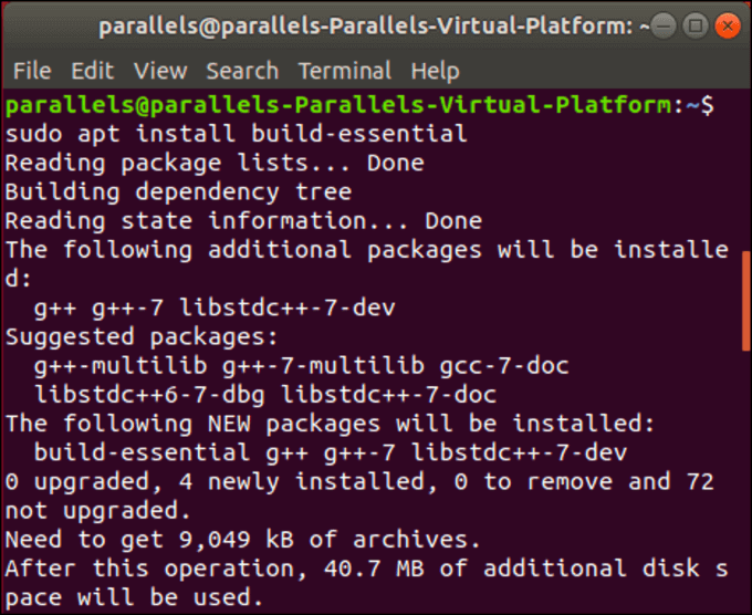 Linux Install Build Essential