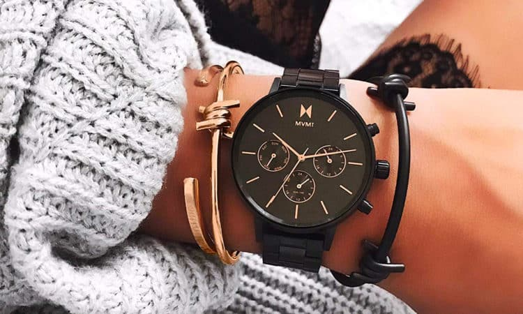 MVMT Gold Brown Leather Mujer