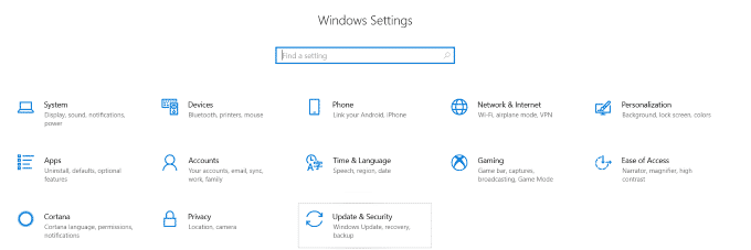 Updates and settings
