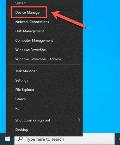 Windows Launch Device Manager