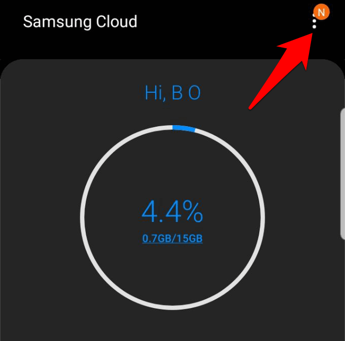 access samsung cloud get most service settings