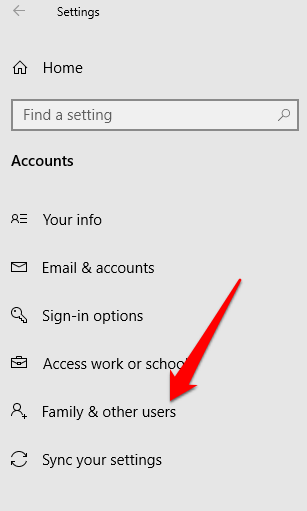 change username windows 10 new user account family other users