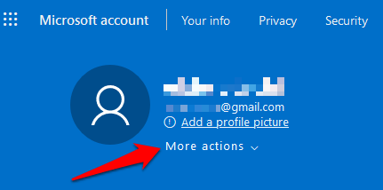 change username windows 10 sign in more actions