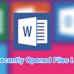 clear recently opened files list word featured