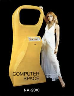 Portada del folleto original de Computer Space, 1971