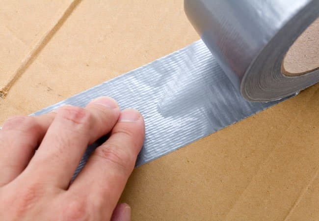 duct tape residue