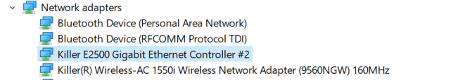 find network drivers laptop