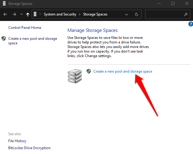 how to use storage spaces on windows 10 for data backups create a new pool and storage space