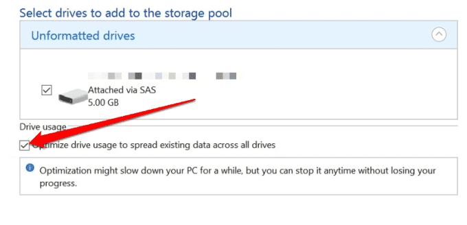 how to use storage spaces on windows 10 for data backups manage storage spaces change settings add drives optimize drive usage