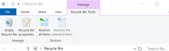 manage recycle bin