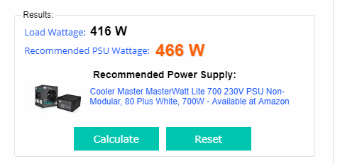 power supply results