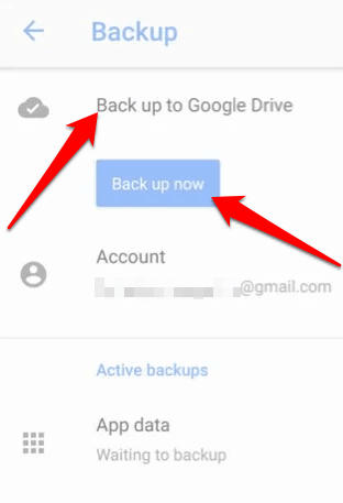 transfer data new android phone backup google drive backup now