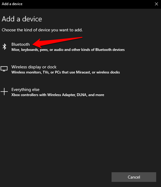turn on bluetooth windows 10 action center bluetooth search