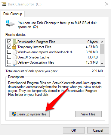 windows 10 action center wont open clean up system files