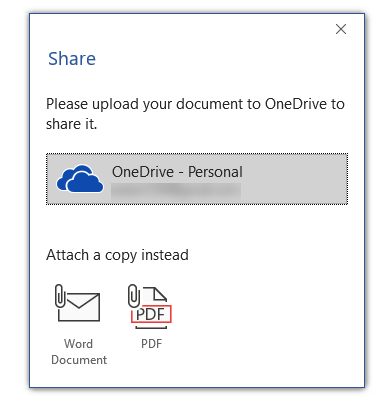 word share document