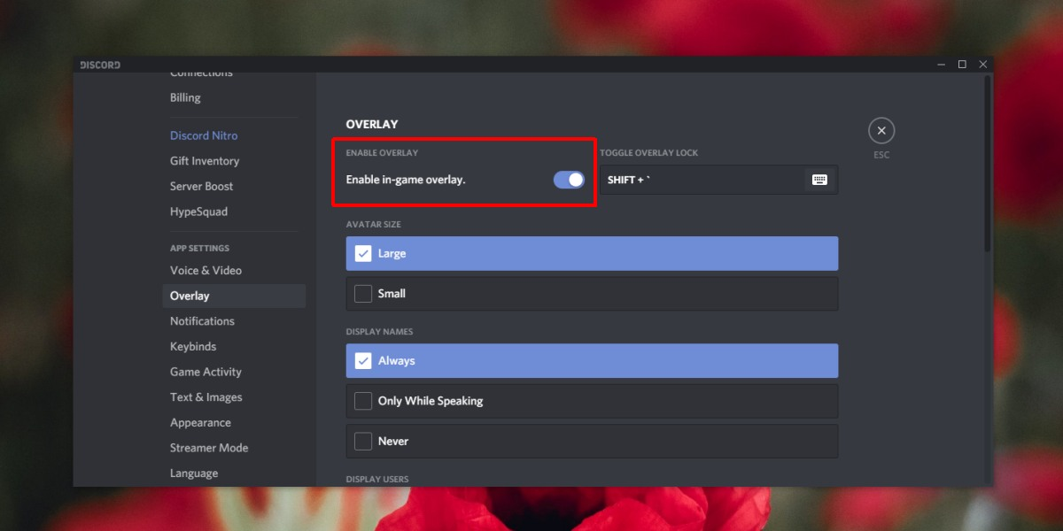 disable discord overlay