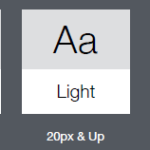 typography system weights
